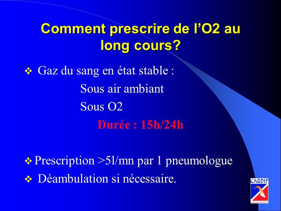 Comment prescrire de l'O2 au long cours