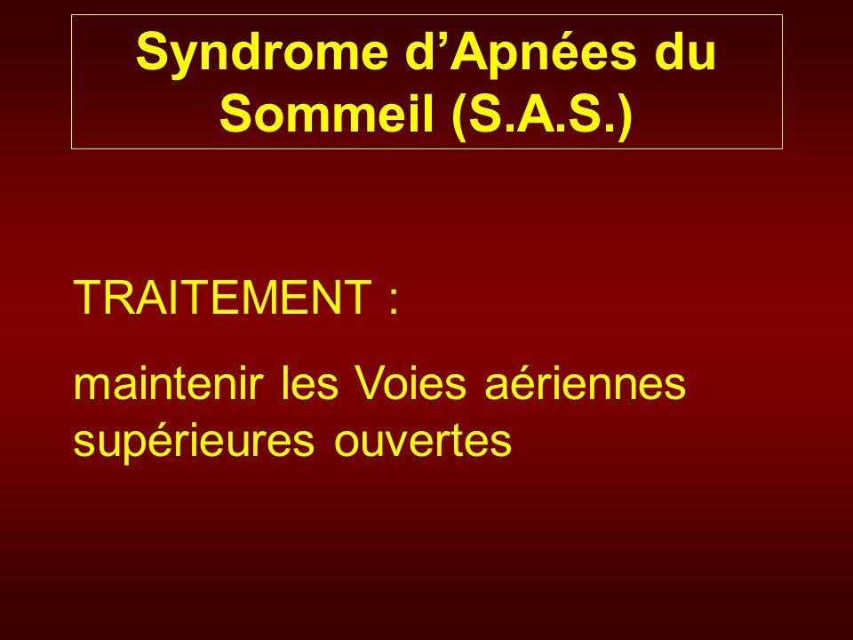 Syndrome d'Apnées du Sommeil (S.A.S.)