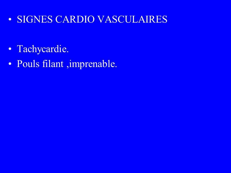 SIGNES CARDIO VASCULAIRES