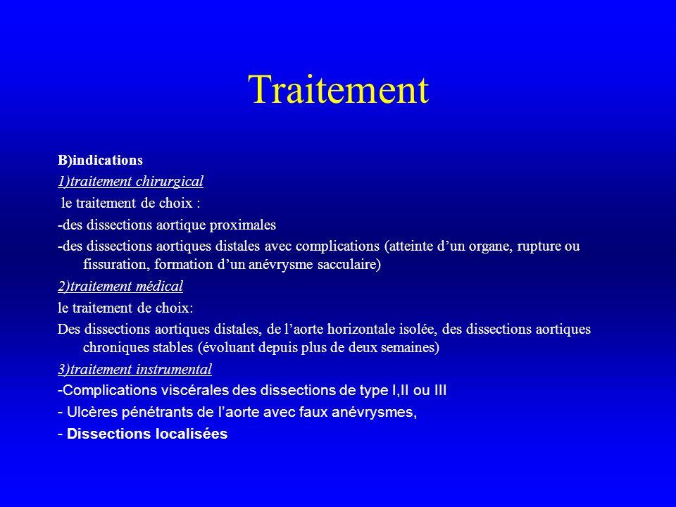 Traitement B)indications 1)traitement chirurgical