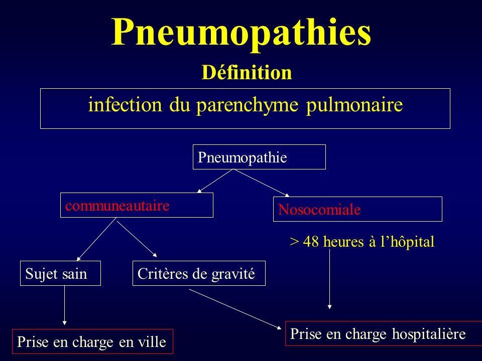 infection du parenchyme pulmonaire