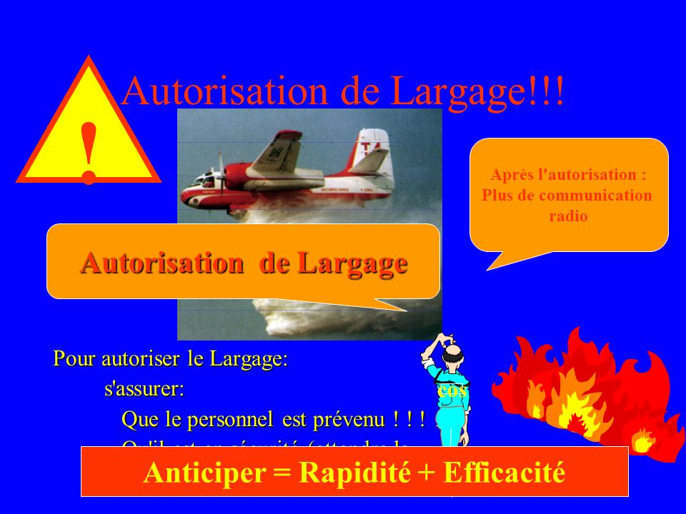 Autorisation de Largage!!!