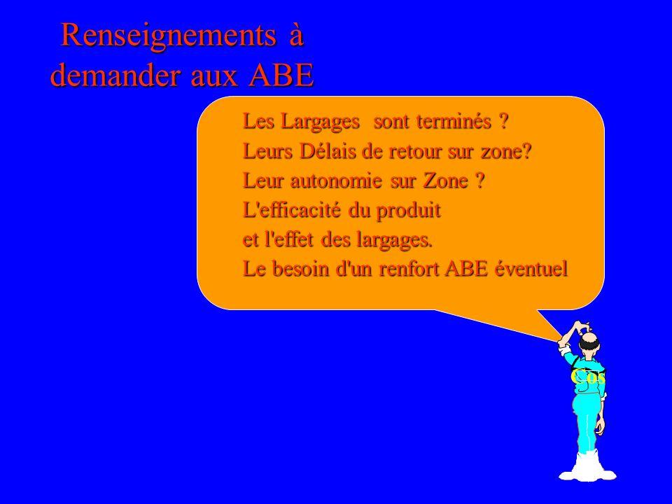 Renseignements à demander aux ABE