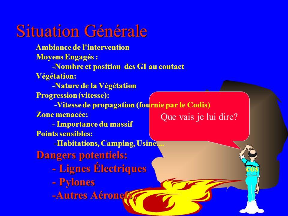 Situation Générale - Lignes Électriques - Pylones -Autres Aéronefs...