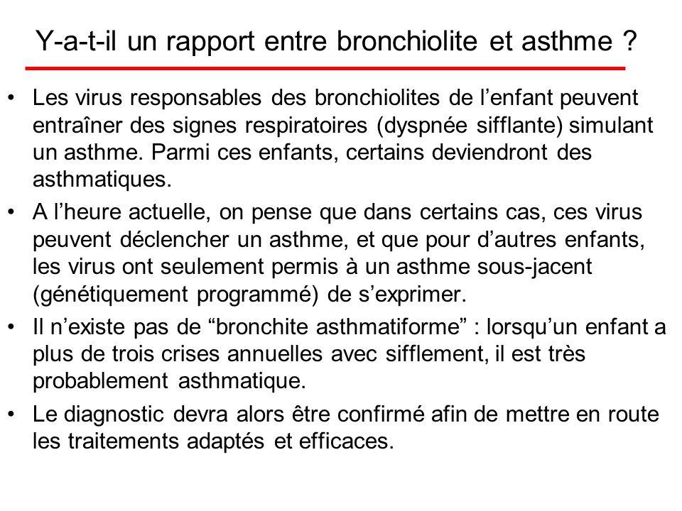 Y-a-t-il un rapport entre bronchiolite et asthme