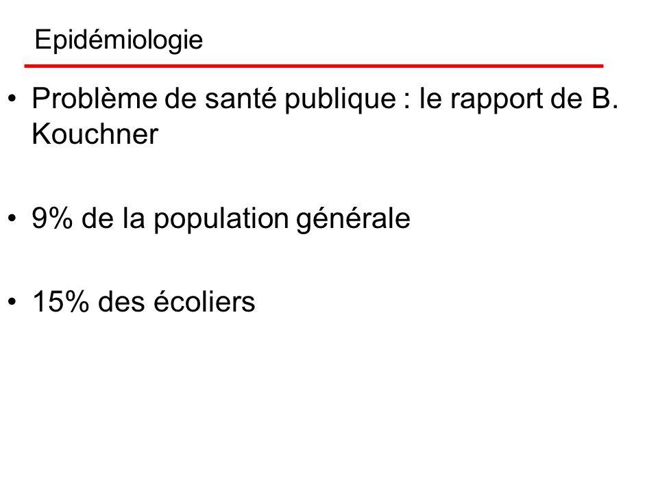 Problème de santé publique : le rapport de B. Kouchner