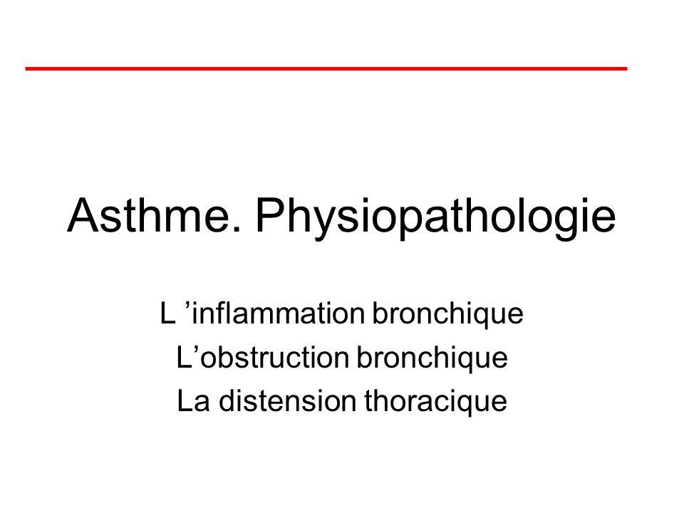 Asthme. Physiopathologie
