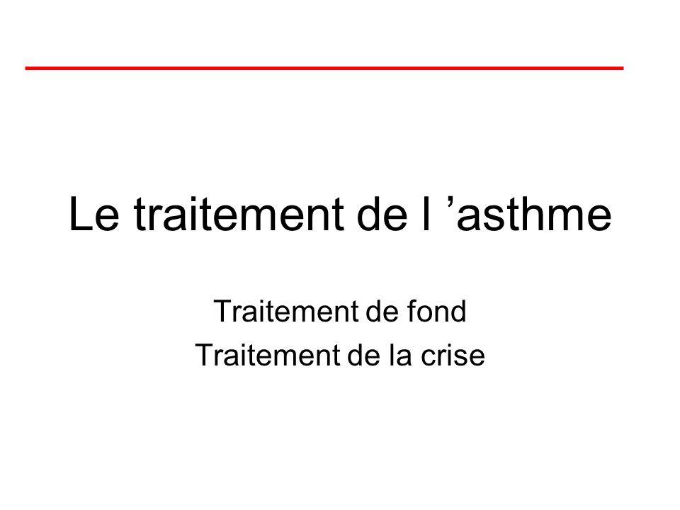 Le traitement de l 'asthme