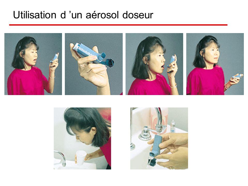 Utilisation d 'un aérosol doseur