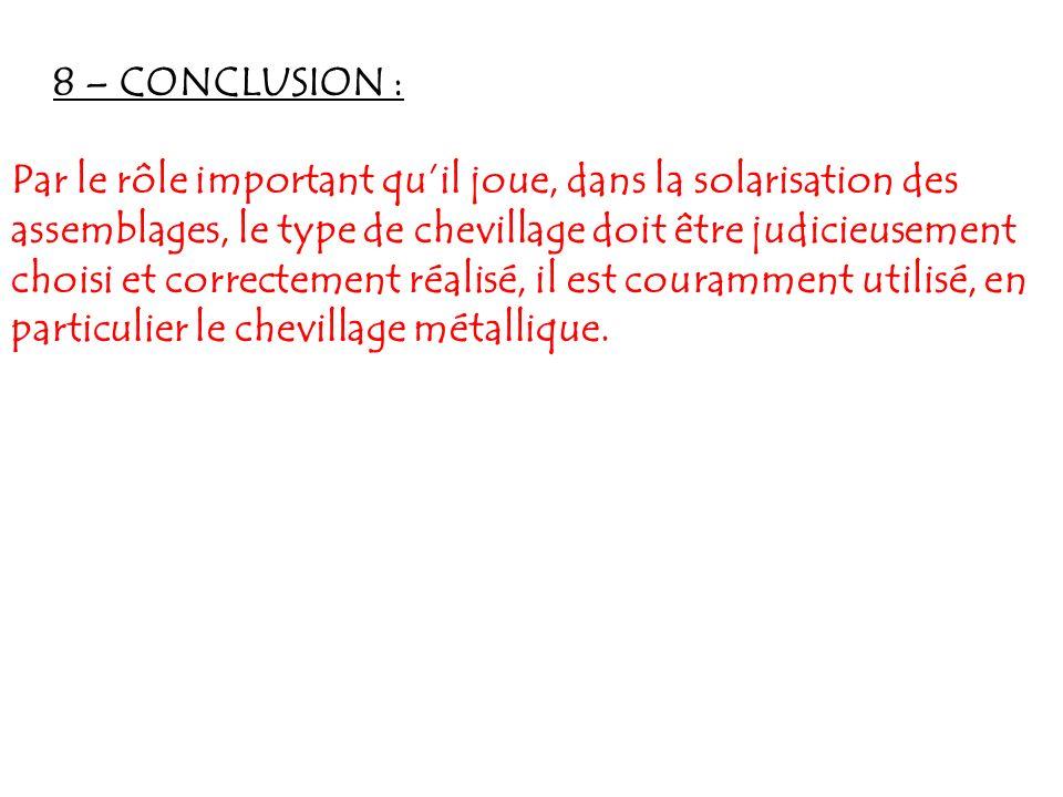 8 – CONCLUSION :