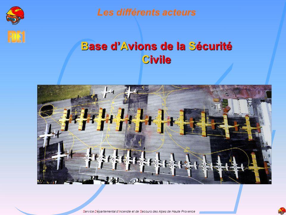 Les différents acteurs Base d'Avions de la Sécurité Civile