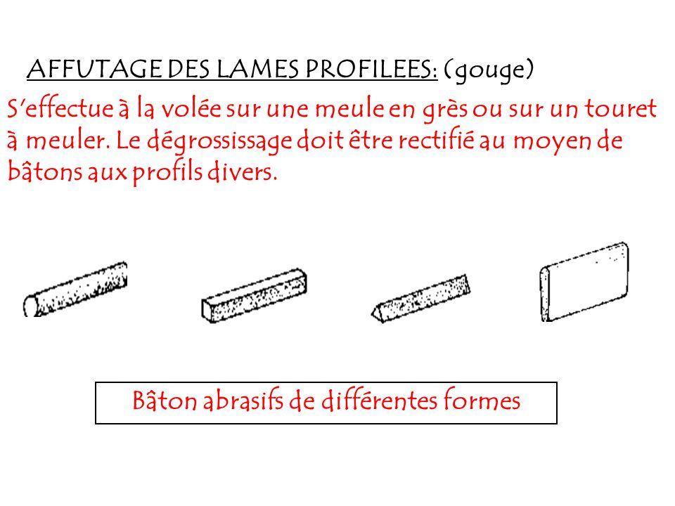 Bâton abrasifs de différentes formes