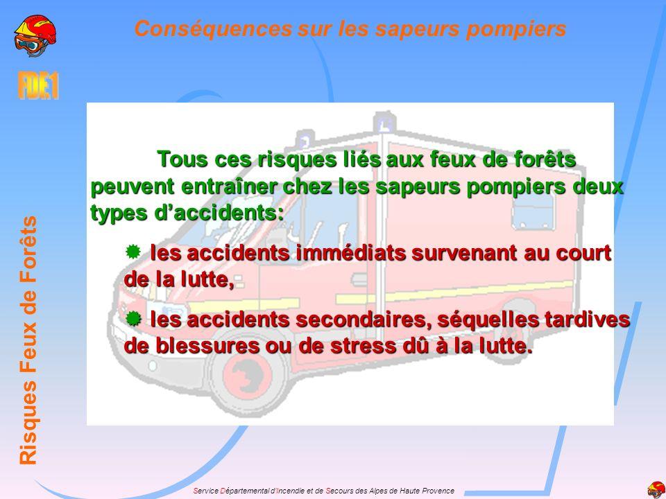 Conséquences sur les sapeurs pompiers