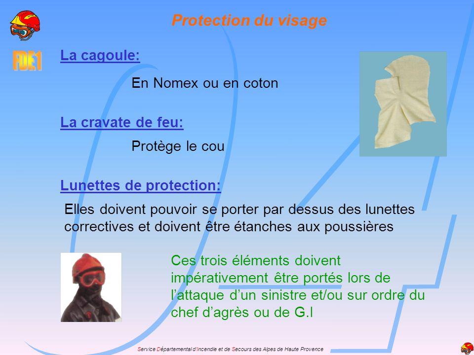 Protection du visage La cagoule: En Nomex ou en coton