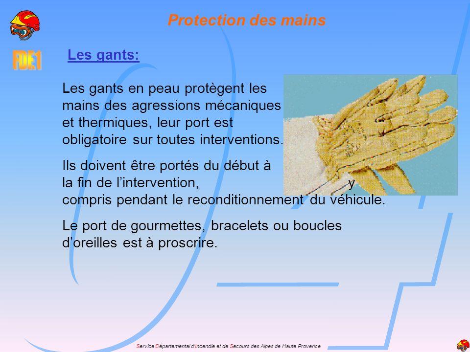 Protection des mains Les gants:
