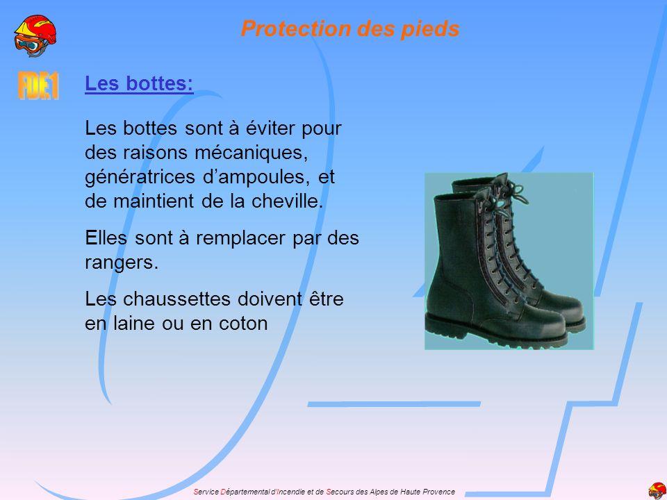 Protection des pieds Les bottes: