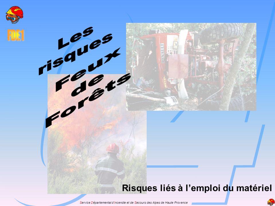 Les risques Feux de Forêts Risques liés à l'emploi du matériel