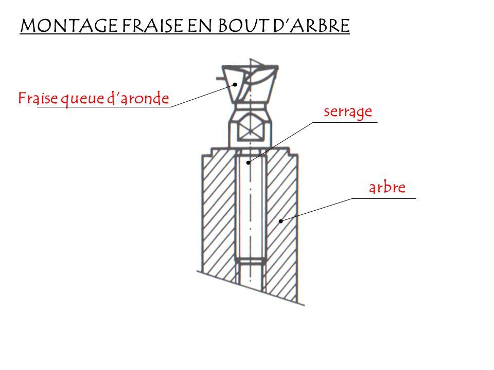 MONTAGE FRAISE EN BOUT D'ARBRE
