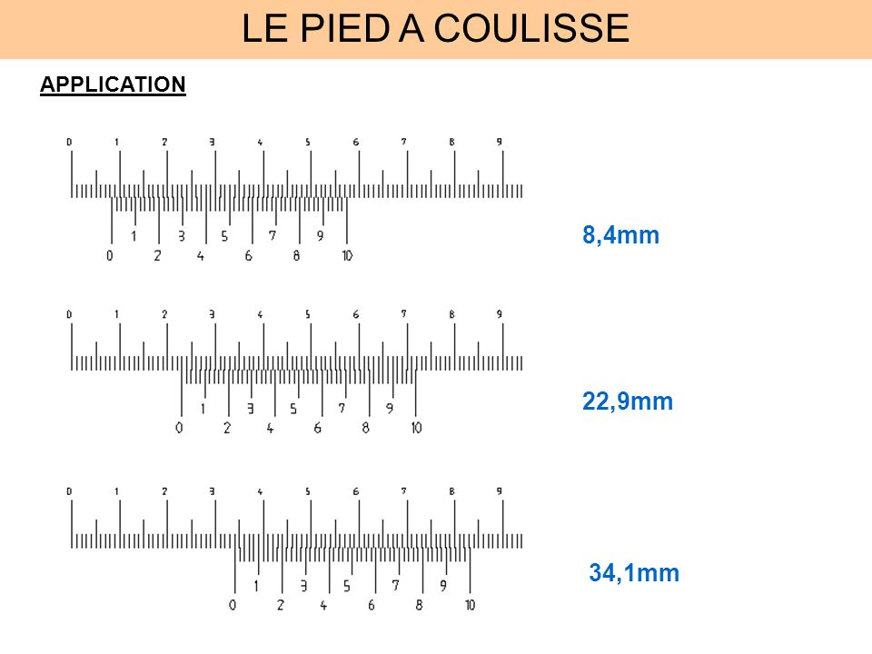 LE PIED A COULISSE APPLICATION 8,4mm 22,9mm 34,1mm