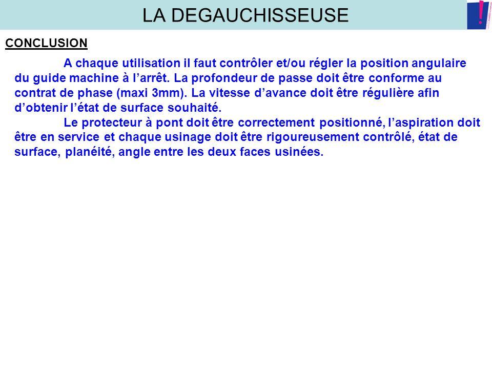 LA DEGAUCHISSEUSE CONCLUSION