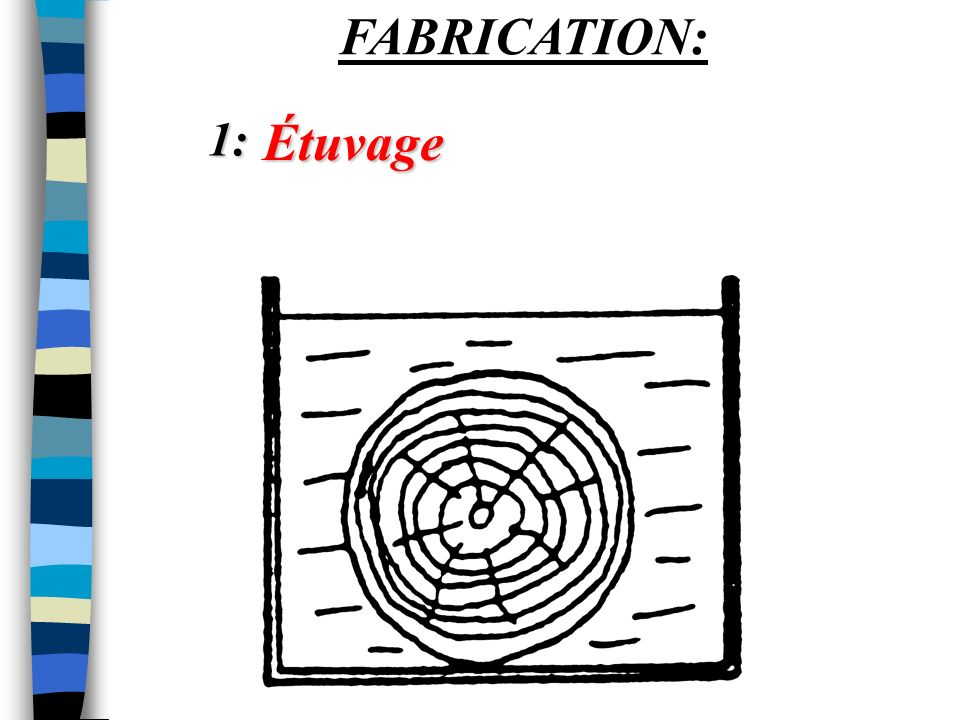 FABRICATION: 1: Étuvage