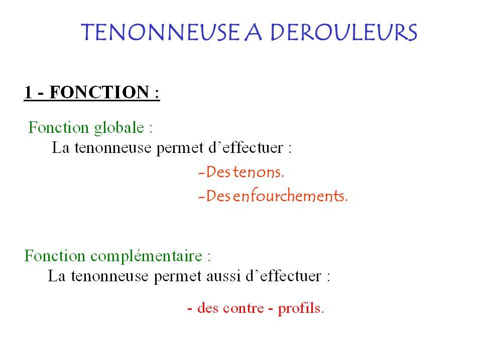 TENONNEUSE A DEROULEURS