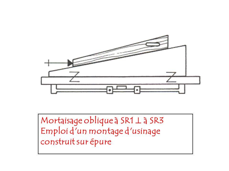 Mortaisage oblique à SR1  à SR3 Emploi d un montage d usinage construit sur épure