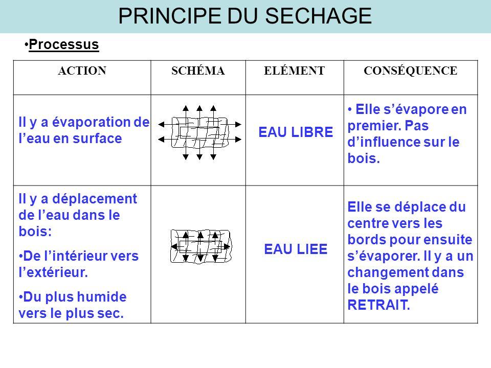 PRINCIPE DU SECHAGE Processus