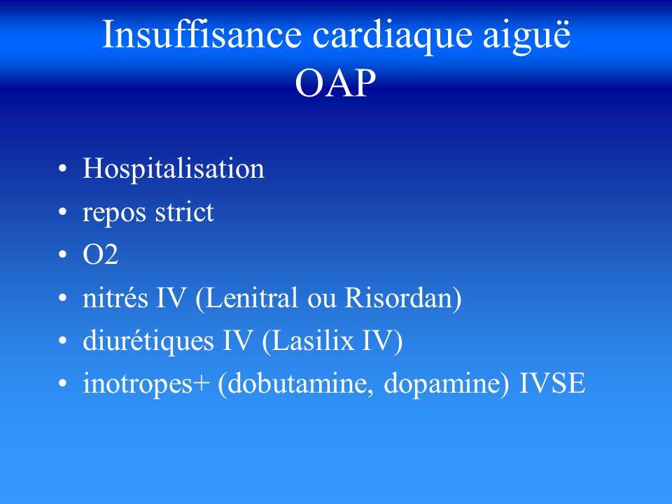 Insuffisance cardiaque aiguë OAP