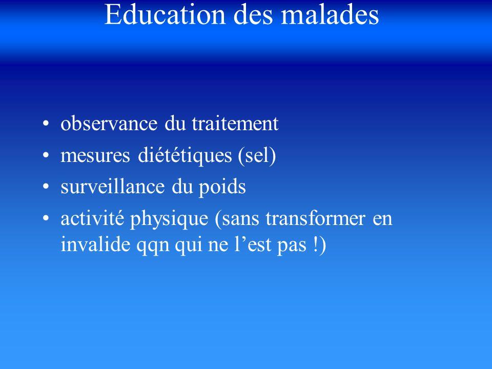 Education des malades observance du traitement
