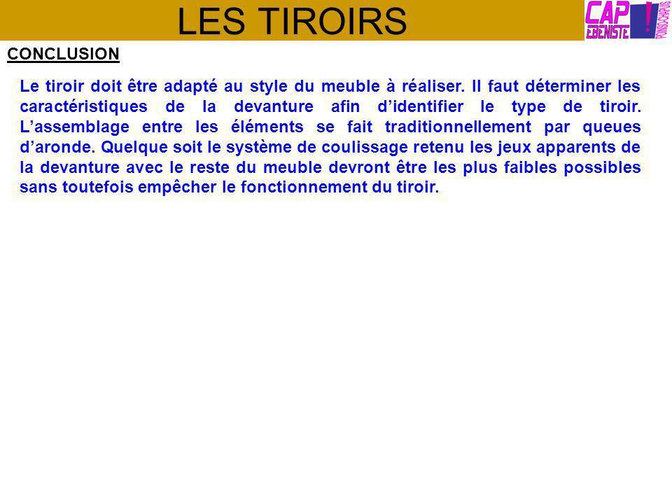 LES TIROIRS CONCLUSION