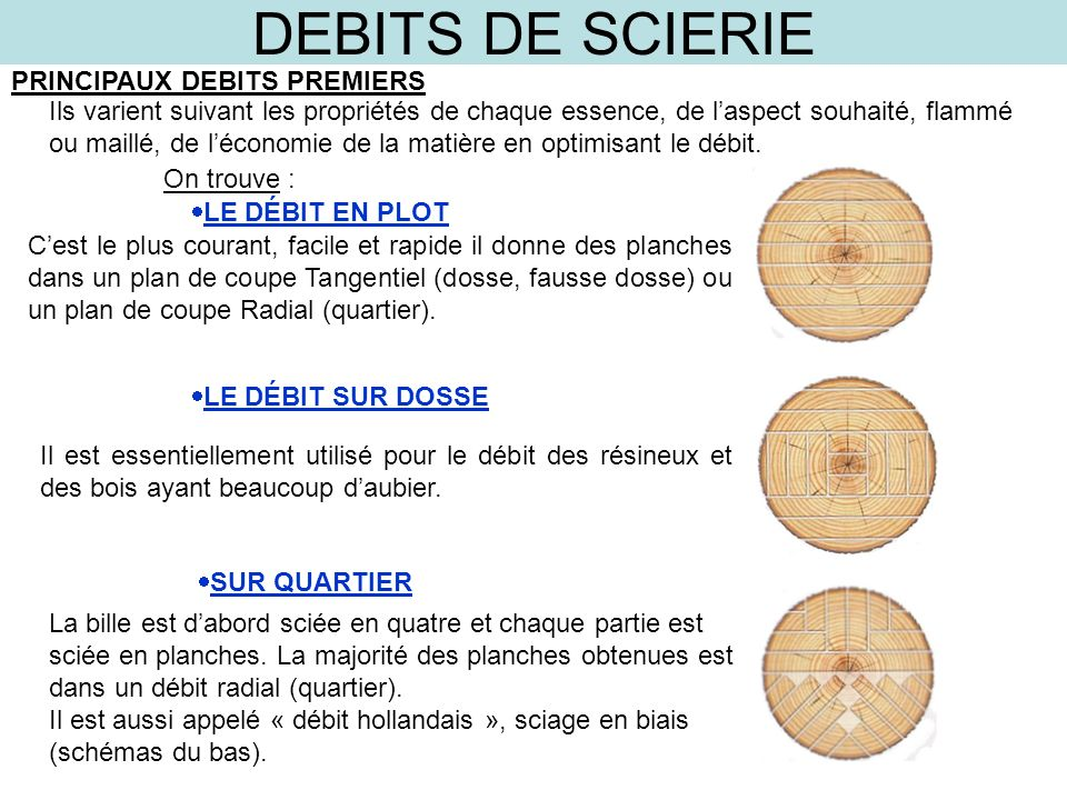 DEBITS DE SCIERIE FONCTION ppt video online télécharger # Bille De Bois De Sciage
