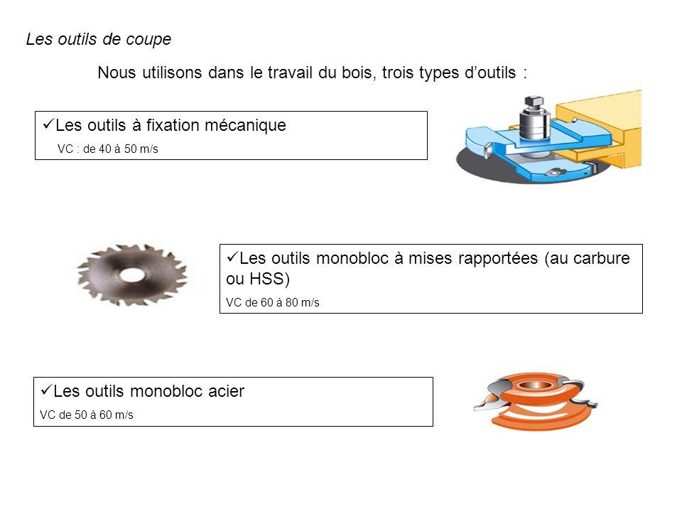 Nous utilisons dans le travail du bois, trois types d'outils :