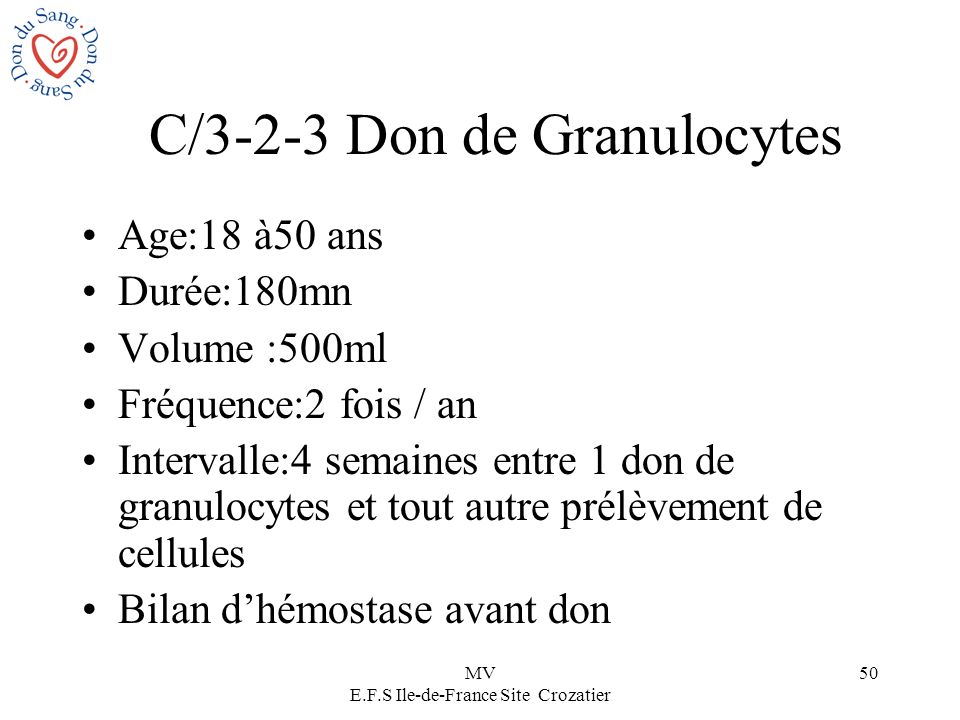 C/3-2-3 Don de Granulocytes