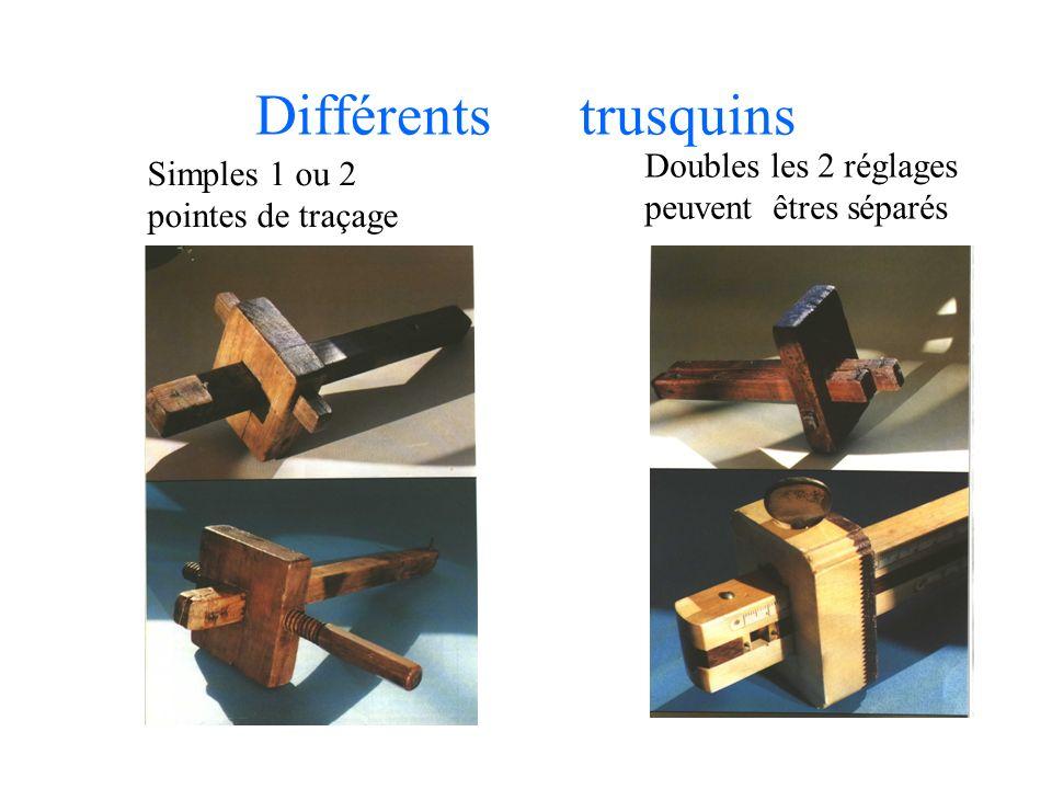 Différents trusquins Doubles les 2 réglages peuvent êtres séparés