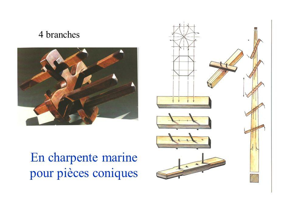 En charpente marine pour pièces coniques