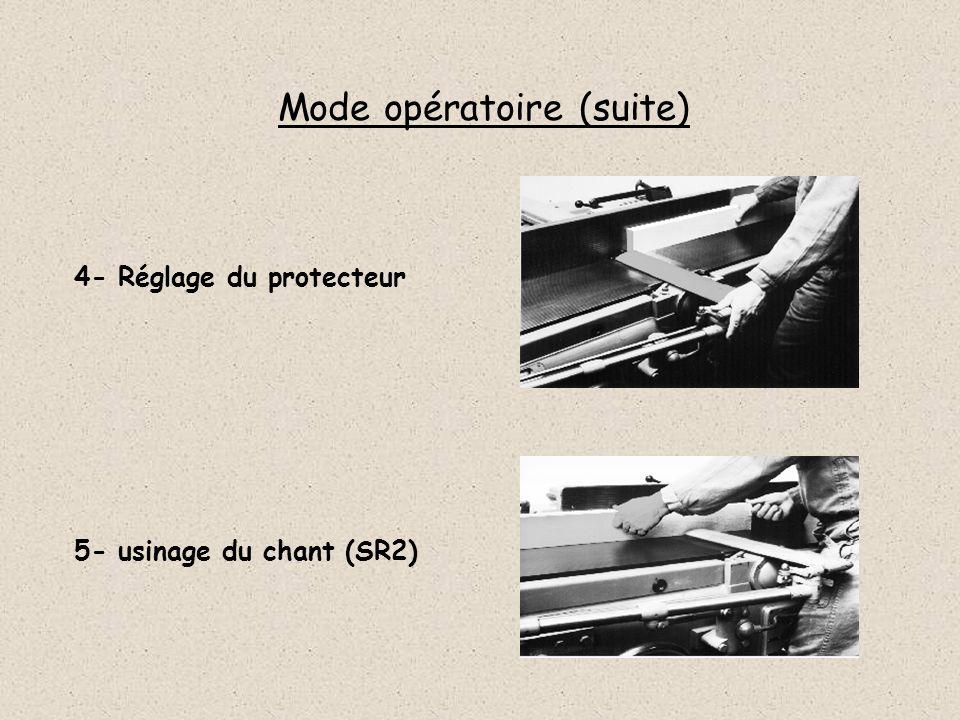 Mode opératoire (suite)