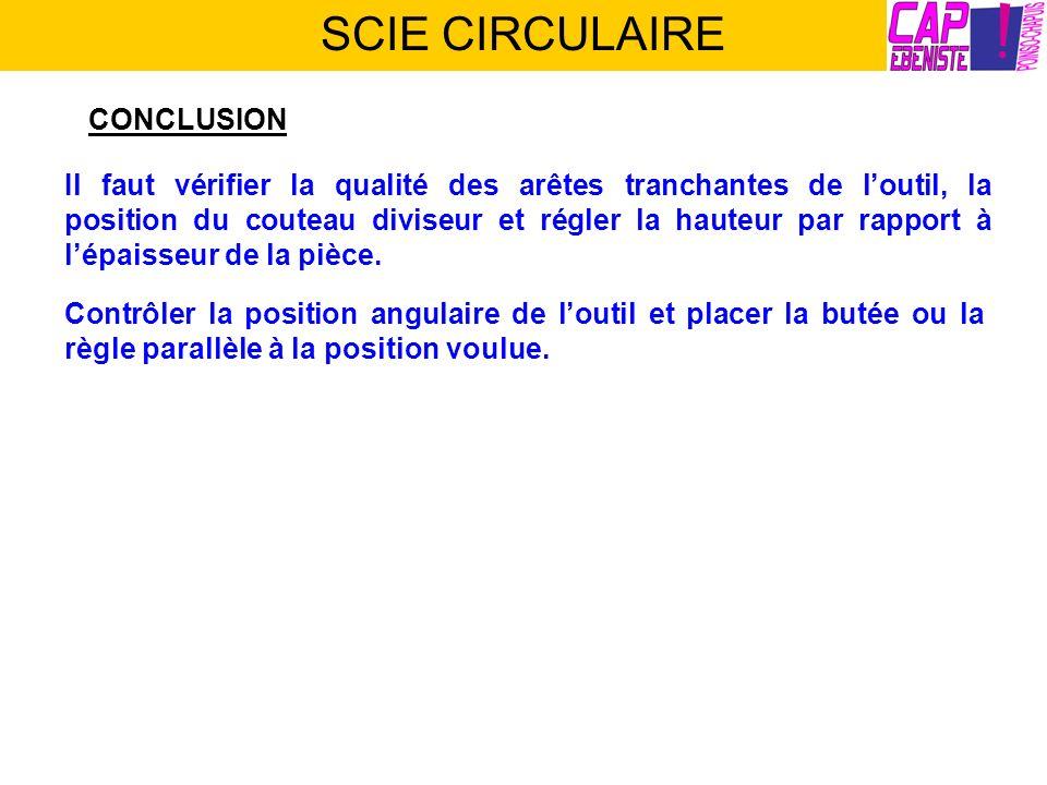 SCIE CIRCULAIRE CONCLUSION