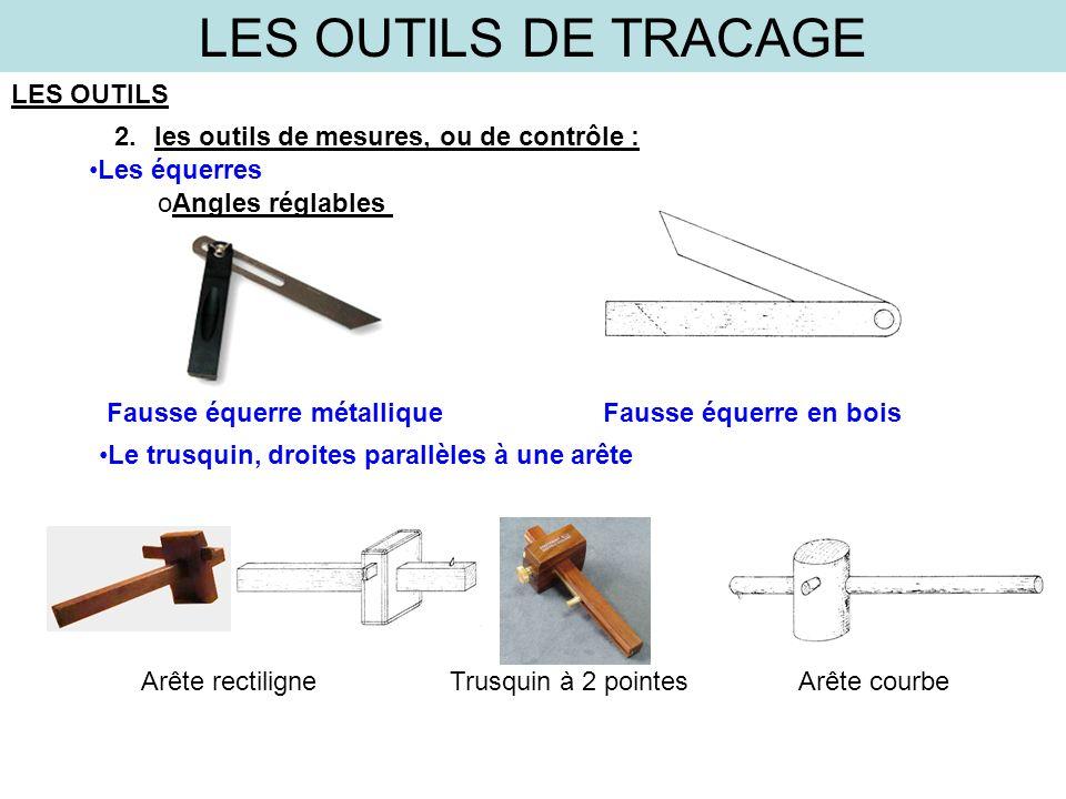 LES OUTILS DE TRACAGE LES OUTILS