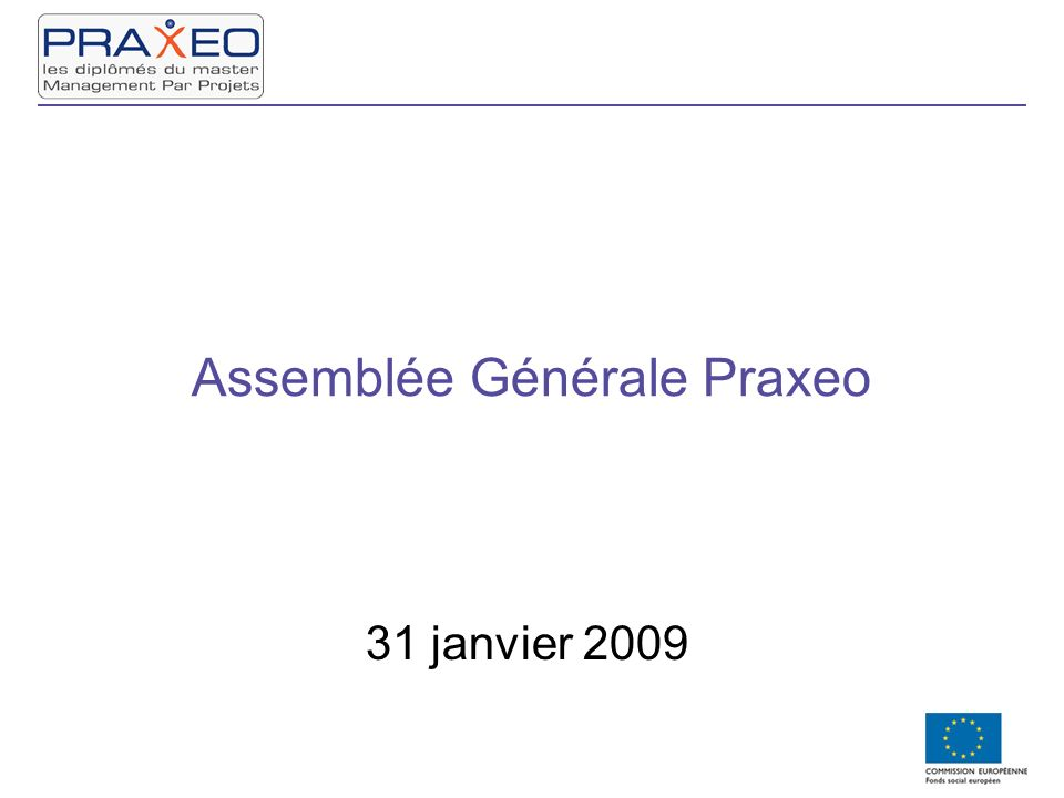 Assemblée Générale Praxeo