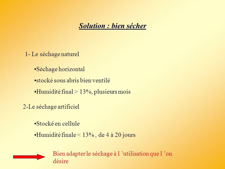 Solution : bien sécher 1- Le séchage naturel Séchage horizontal