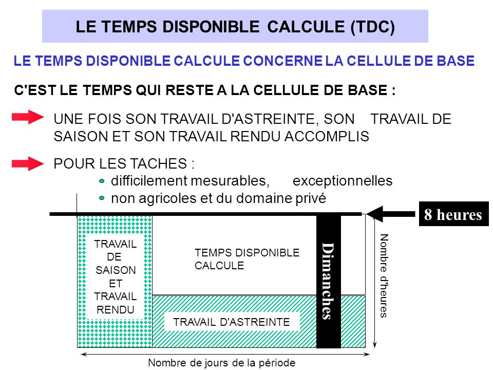 LE TEMPS DISPONIBLE CALCULE (TDC)