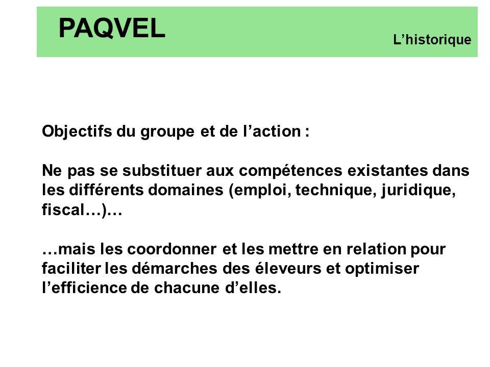 PAQVEL Objectifs du groupe et de l'action :