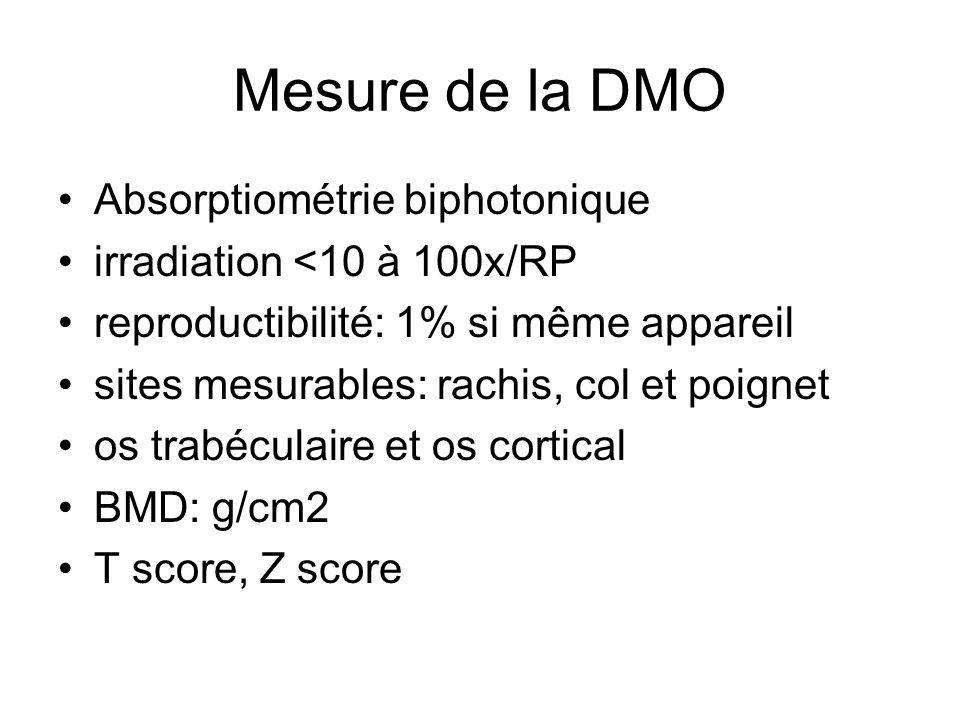Mesure de la DMO Absorptiométrie biphotonique