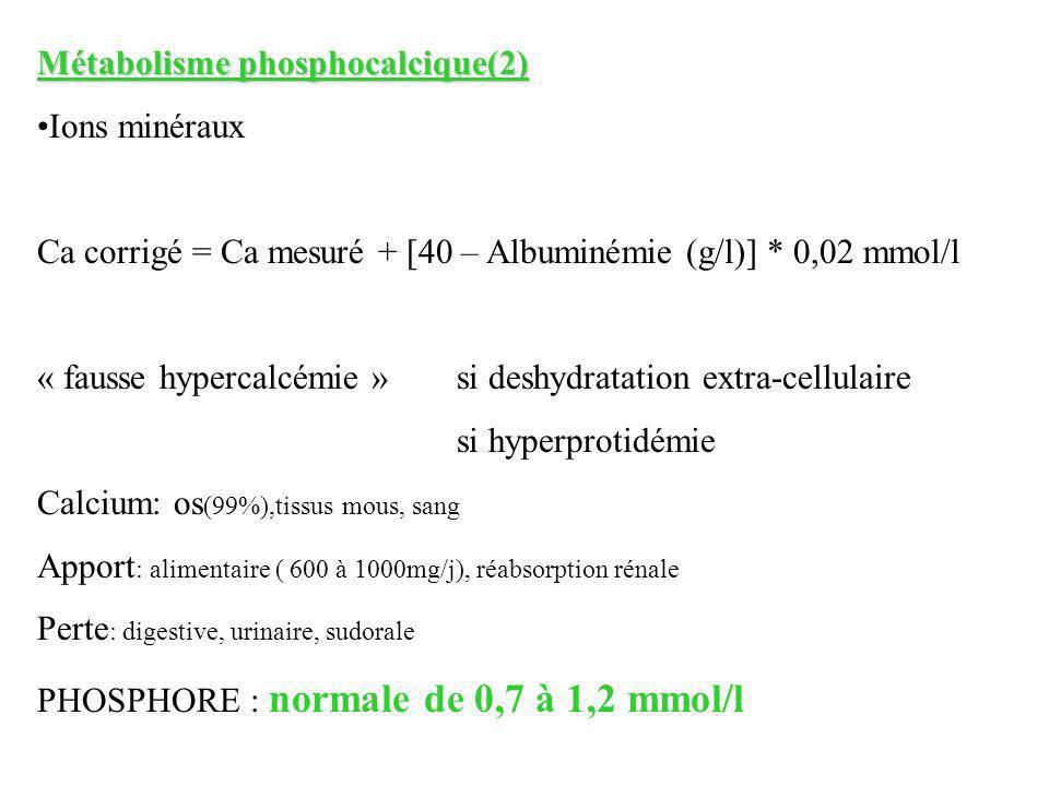 Métabolisme phosphocalcique(2)