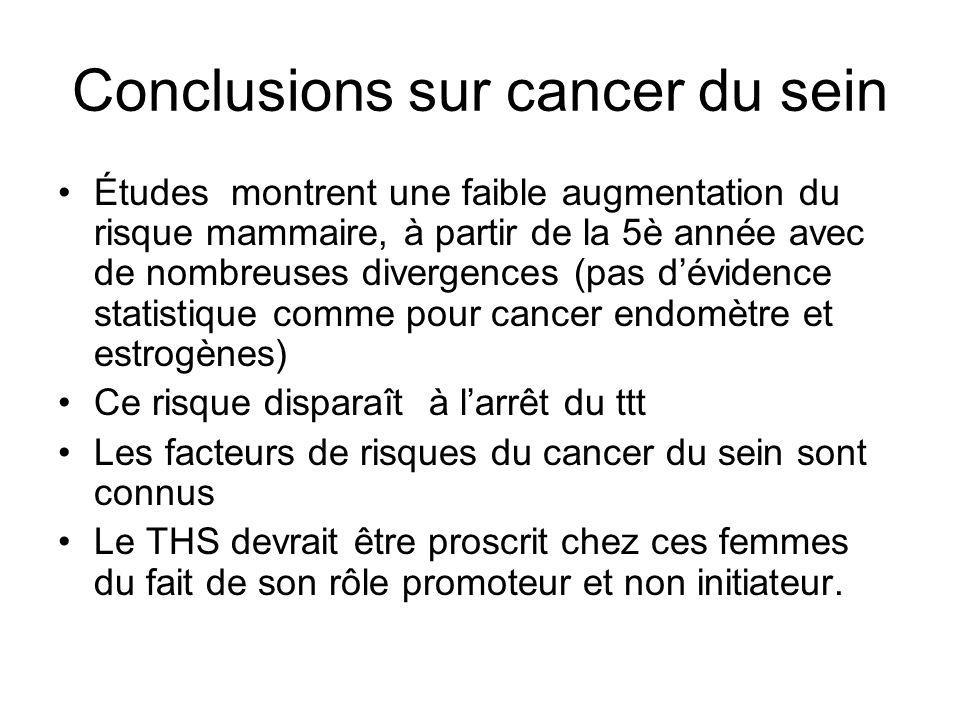 Conclusions sur cancer du sein