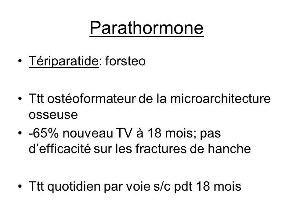 Parathormone Tériparatide: forsteo