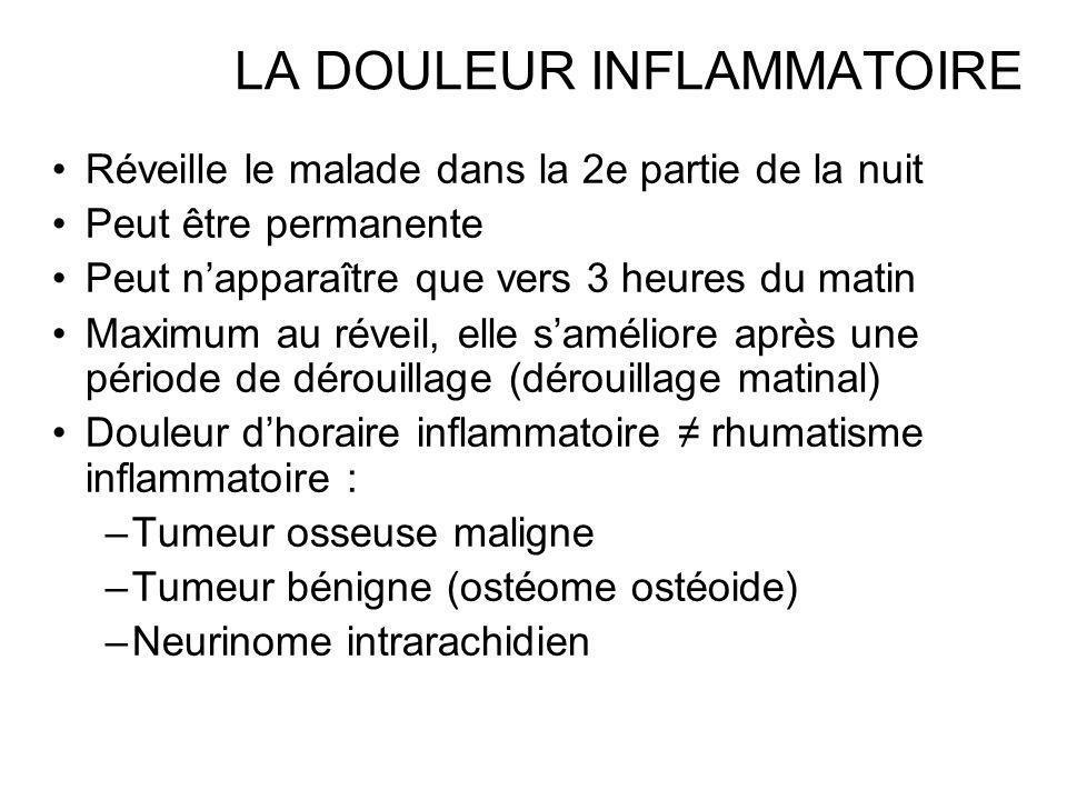 LA DOULEUR INFLAMMATOIRE