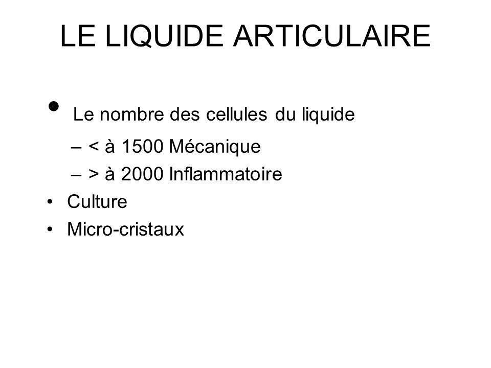 LE LIQUIDE ARTICULAIRE