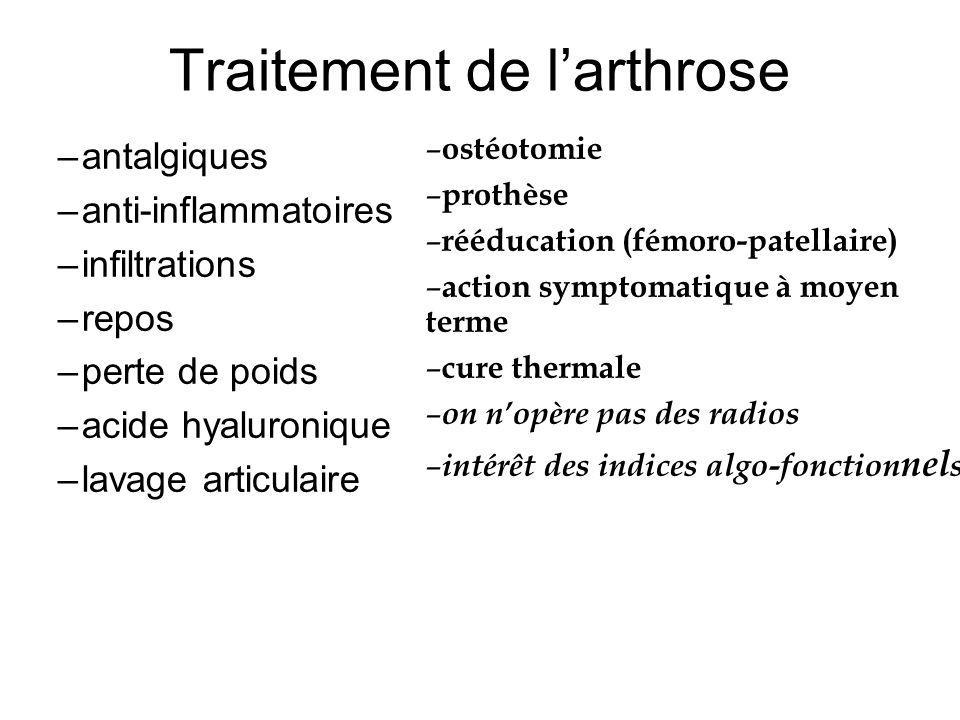 Traitement de l'arthrose